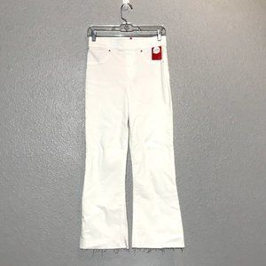 NWT Spanx Cropped Flare Denim White Jeans